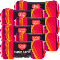 Red Heart® Super Saver® Yarn Fruity Stripe, Multipack Of 6