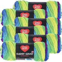 Red Heart® Super Saver® Yarn Parrot Stripe, Multipack Of 6