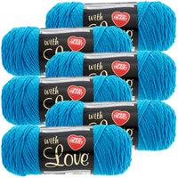 Red Heart® With Love Yarn Blue Hawaii, Multipack Of 6