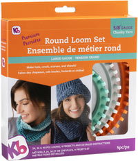 Knitting Board Chunky Round Loom Sizes 48 36 and 24 Pegs 3pk