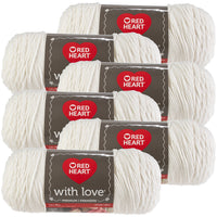 Red Heart® With Love Yarn White, Multipack Of 6