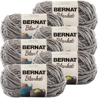 Bernat® Blanket Yarn Dark Grey, Multipack Of 6