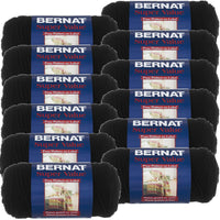 Bernat® Super Value Yarn Black, Multipack Of 12