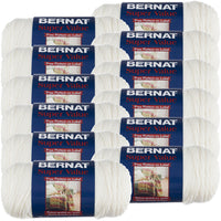 Bernat® Super Value Yarn Winter White, Multipack Of 12