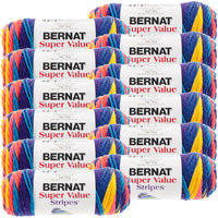 Bernat® Super Value Stripes Yarn Candy Store, Multipack Of 12