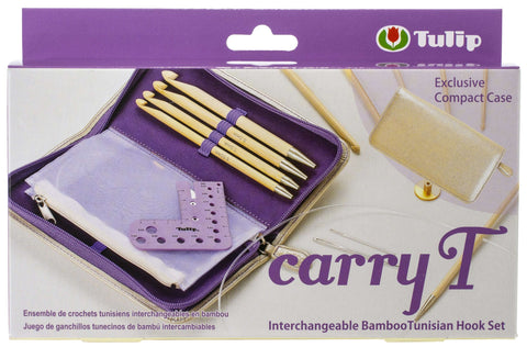 Tulip Carry T Interchangeable Bamboo Tunisian Hook Set with Case