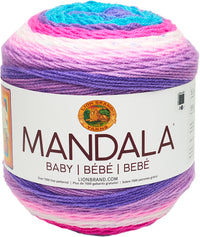 Lion Brand® Mandala Baby Yarn Unicorn Cloud 3pk