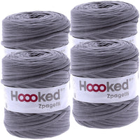 Hoooked Zpagetti Yarn Anthracite Gray Dark Gray Shades, Multipack Of 4