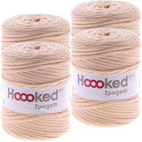 Hoooked Zpagetti Yarn Ballet Peach, Multipack Of 4