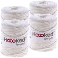 Hoooked Zpagetti Yarn Ivory White, Multipack Of 4