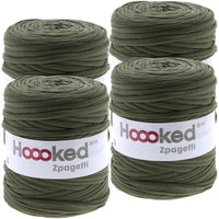 Hoooked Zpagetti Yarn Vineyard Green, Multipack Of 4