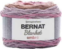 Bernat Blanket Ombre Yarn Dusty Rose Ombre