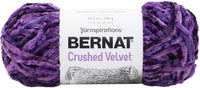 Bernat Crushed Velvet Yarn Potent Purple