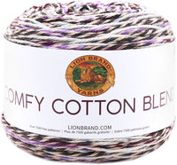 Lion Brand® Comfy Cotton Blend Yarn Blueberry Muffin