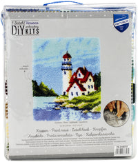 Vervaco Latch Hook Rug Kit Lighthouse 17.2inX21.6in