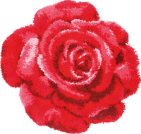 Vervaco Latch Hook Rug Kit Red Rose 28inX26.8in