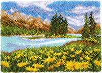 Vervaco Latch Hook Rug Kit Mountain Landscape 28inX20.4in