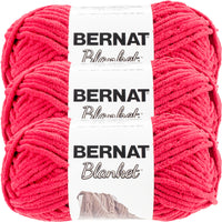 Bernat Blanket Yarn-Cranberry, Multipack Of 3