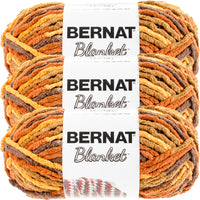 Bernat Blanket Yarn-Fall Leaves, Multipack Of 3