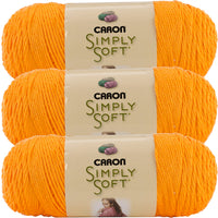Caron Simply Soft Brites Yarn -Mango, Multipack Of 3