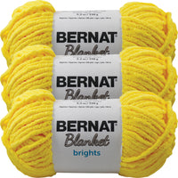 Bernat Blanket Brights Yarn-School Bus Yellow, Multipack Of 3