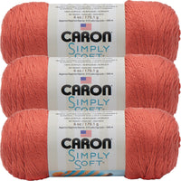 Caron Simply Soft Solids Yarn-Persimmon, Multipack Of 3