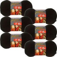 Bernat Softee Chunky Yarn-Black, Multipack Of 6
