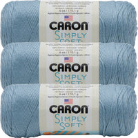 Caron Simply Soft Solids Yarn-Light Country Blue, Multipack Of 3