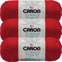 Caron Simply Soft Solids Yarn-Harvest Red, Multipack Of 3