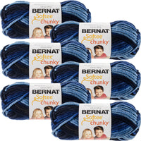 Bernat Softee Chunky Ombre Yarn-Denim, Multipack Of 6