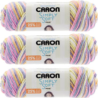 Caron Simply Soft Paints Yarn-Baby Brights, Multipack Of 3