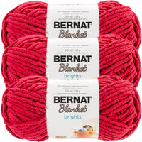 Bernat Blanket Brights Yarn-Race Car Red, Multipack Of 3