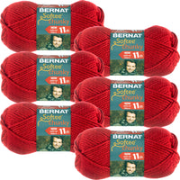 Bernat Softee Chunky Yarn-Berry Red, Multipack Of 6