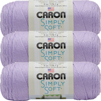 Caron Simply Soft Solids Yarn-Orchid, Multipack Of 3
