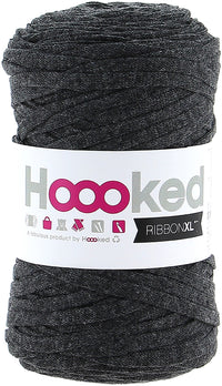 Hoooked Ribbon XL Yarn Charcoal Anthracite