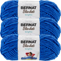 Bernat Blanket Brights Yarn-Royal Blue, Multipack Of 3
