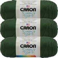 Caron Simply Soft Solids Yarn-Dark Sage, Multipack Of 3