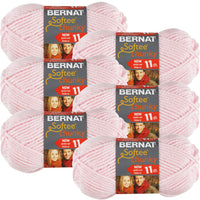Bernat Softee Chunky Yarn -Baby Pink, Multipack Of 6