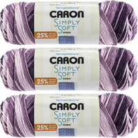 Caron Simply Soft Ombres Yarn-Grape Purple, Multipack Of 3
