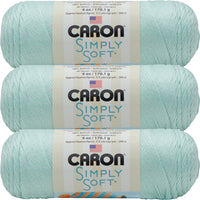 Caron Simply Soft Solids Yarn-Soft Green, Multipack Of 3