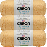 Caron Simply Soft Solids Yarn-Sunshine, Multipack Of 3