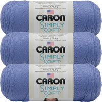 Caron Simply Soft Solids Yarn-Lavender Blue, Multipack Of 3