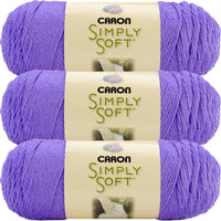 Caron Simply Soft Brites Yarn-Berry Blue, Multipack Of 3