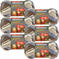 Bernat Softee Chunky Ombre Yarn-Natures Way, Multipack Of 6