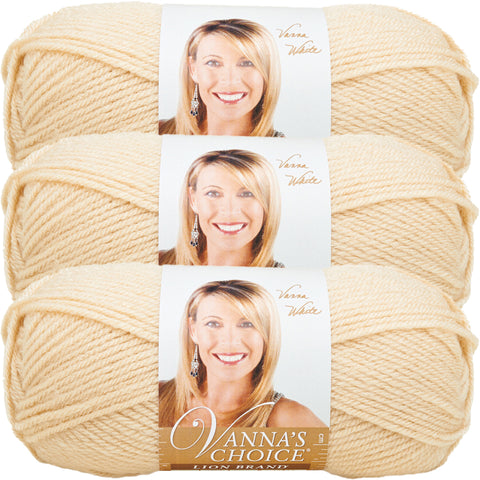 Lion Brand Vanna's Choice Yarn-Beige, Multipack Of 3