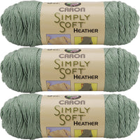 Caron Simply Soft Heathers Yarn-Woodland, Mutlipack Of 3
