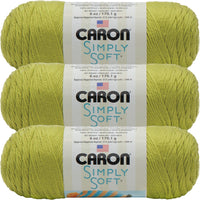 Caron Simply Soft Solids Yarn-Chartreuse, Multipack Of 3