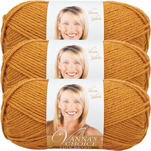Lion Brand Vanna's Choice Yarn-Honey, Multipack Of 3
