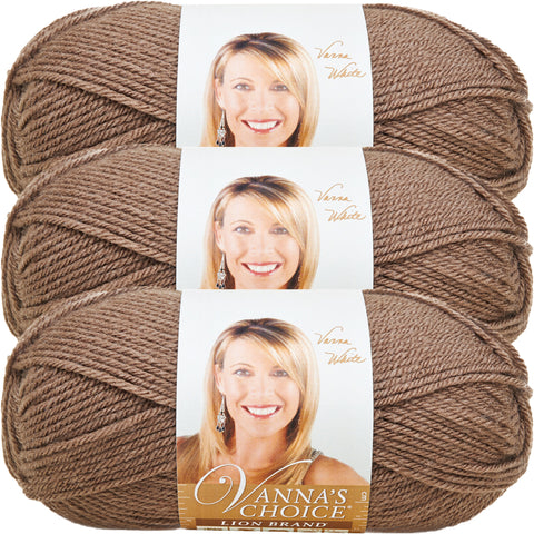 Lion Brand Vanna's Choice Yarn-Taupe, Multipack Of 3