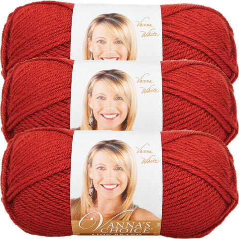 Lion Brand Vanna's Choice Yarn-Brick, Multipack Of 3